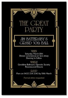 20\'s years cabaret photos | Use this 1920s inspired invitation ...