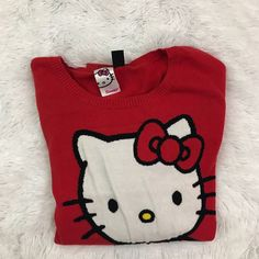 Sanrio Forever 21 Hello Kitty Sweater Womens Size Large Red  | eBay