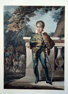 Napoléon François Charles Joseph Bonaparte né le 20 mars 1811 - Roi de Rome - éphémère Napoléon II - futur Duc de Reichstadt - fils de Napoléon Bonaparte et de Marie-Louise d'Autriche - aquatinte avant la lettre