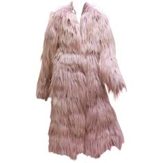 Pre-owned Important Tom Ford for Gucci Dusty Pink Goat Hair Coat -... ($15,502) ❤ liked on Polyvore featuring outerwear, coats, coats and outerwear, long brown coat, evening coat, long coat, pink coat and brown coat