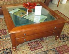 $295.00 1 21891 Ethan Allen Shadow Box Coffee Table