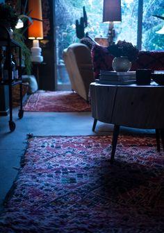 Home Decorators Luxury Vinyl Plank Key: 8470819668 Red Persian Rug, Persian Carpet, Interior Design Institute, Decor Interior Design, Homemade Xmas Decorations, Slanted Walls, Abigail Ahern, Dark Interiors, Luxury Vinyl Plank
