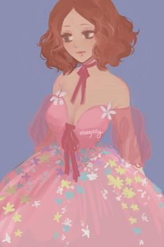 Haru in a really pretty dress | Artist: Moonjelly