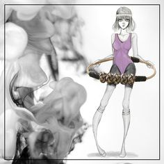 Illustration osto girl