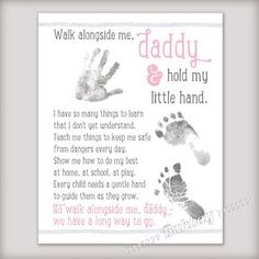 walk with me daddy poem keepsake - Google Search More