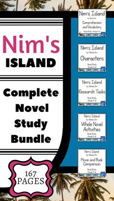 Nim's Island - Complete Novel Study Bundle by Galarious Goods