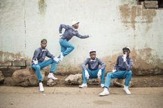 Members of the Rea Iketsetsa posing in their signature fashion in Soweto. Pantsula, a dance that is more like a way of life, captivated Chris Saunders, who set out to document a subculture with roots in jazz and hip-hop. African Dance, Its Nice That, Street Culture, Political Issues, Dance Fashion, Dance Photos, Dance Videos, City Streets, Way Of Life
