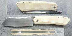 Karamel en Micarta Blanc -| Philippe Jourget Couteaux - Knives