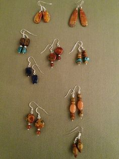 Earrings from Red Creek Spirit Jewelry, redcreekspiritjewelry.com  Earrings for any occasion. Natural beauty to match any mood too.