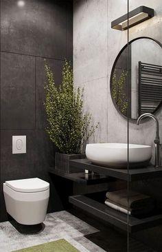Cool 45 Awesome Industrial Bathroom Decor Ideas. More at https://decoomo.com/2018/04/21/45-awesome-industrial-bathroom-decor-ideas/