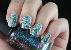 ILNP - Supernova. Flakie nail polish swatch.