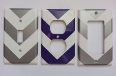 Classy Chevron Light Switch and Plug Decals 56% off at Groopdealz