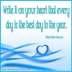 Write it on your heart...