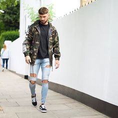 Thanks @boohoomanofficial for the tee & camo jacket! Go check them out at boohooMAN.com Everything 50% OFF now! Jeans from @setinstone_clothing #LdnFashion #mwstyles #BoohooMANstyle - For promotional enquirers contact: Schmarvin@hotmail.co.uk - Snapchat: SAMMARV Facebook: Sam Christopher Hutchings Marvin