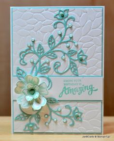 JanB Handmade Cards Atelier: Petal Burst EF, Flourish Thinlits, Mixed Borders, Flower Shop, Petite Petals