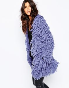 Image 1 ofLovers + Drifters Shaggy Fur Jacket