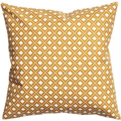H&M Cotton cushion cover (£3.99) ❤ liked on Polyvore featuring mustard, pillow and yellow
