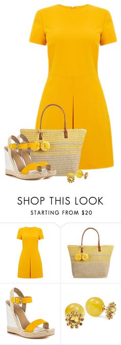 """""""Untitled #6503"""" by cassandra-cafone-wright ❤ liked on Polyvore featuring Warehouse, Merona, Nicole Miller and Kate Spade"""