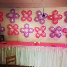 Balloon flowers -- Morgan's baby shower