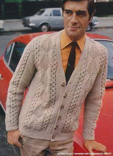 Вязание крючком и спицами/Crochet and knitting: Мужской жакет