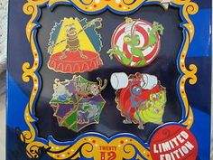 Disney Mickey's Circus Event Bugs Life Circus Pin Set 4 Pins Le 1000 | eBay