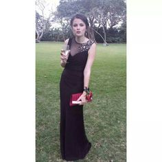 Classic black Matric Dance dress by Amanda Ferri. #TheAmandaFerriShowroom #Matricdancedresses #Eveningdresses