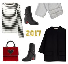 """""""05/01/2017"""" by freddarling ❤ liked on Polyvore featuring Maje, Les Petits Joueurs, Marni, Current/Elliott and Christian Louboutin"""