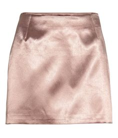 Short satin skirt with a concealed zip in the side. Lined. Satin Rose, Pink Satin, Satin Skirt, Silk Skirt, Short Satin, Short Skirts, Mini Skirts, Pink Wardrobe, Blouse And Skirt