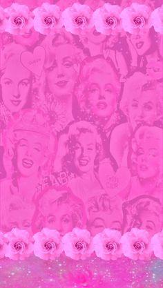 I Love Pink Wallpaper, Flowery Wallpaper, Cute Wallpaper For Phone, Wallpaper Ideas, Marilyn Monroe Wallpaper, Marylin Monroe, Cool Backgrounds Wallpapers, Iphone Wallpapers, Rosa Pink