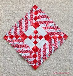 """Nearly Insane Quilt, Block 18 (the 6"""" block with the most pieces!)"""