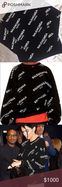 e588a2b9c Balenciaga Oversized jacquard- knit Sweater Balenciaga's sweater was  photographed on Kendall Jenner at Sean