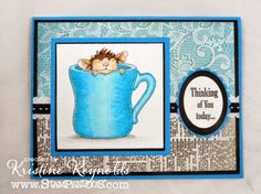 #cre8time for coffee and Stamping & Scrapping in California: #Stampendous House Mouse meets #AuthentiquePaper