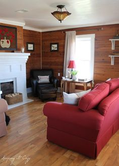 Wood Paneling White Trim Use Of Color Pine Walls Wood