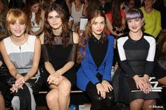 Bella Thorne, Alexandra Daddario, Holland Roden, Kelly Osborne posing at DKNY Show as part of the Spring 2014 Mercedes-Benz Fashion Week in New York City, NY, USA on September 8, 2013.