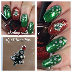 ehmkay nails: Christmas Tree Nail Jewelry and Easy Festive Nail Art: USE FKLC15 FOR 15% OFF LADY QUEEN BEAUTY!