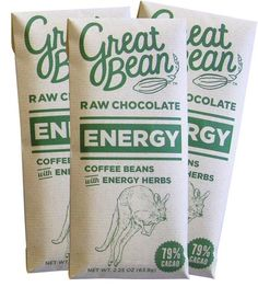 Energy Coffee-Infused Raw Chocolate – Pack of 3 | According to legend, Aztec emperor Montezuma downed 50 cups of... | Candy & Chocolate