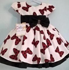 109cbdaddb1 Vestido Minnie Vermelha Laço Acompanha Tiara ou Faixa. Galipe Moda Kids · VESTIDOS  INFANTIL