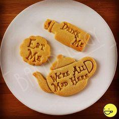 Alice's Adventures in Wonderland drink me inspired cookies