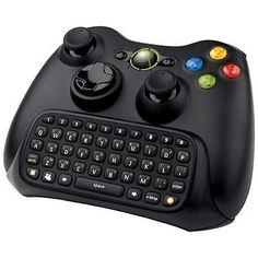 Official Microsoft Xbox 360 Black Chatpad Keyboard w/ White LED Lights Chat pad