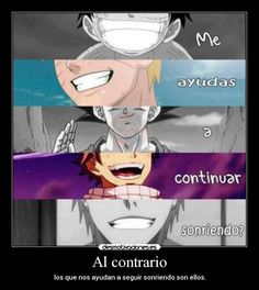 carteles anime manga otaku fairy tail natsu bleach ichigo one piece luffy naruto shippuden dragon ball goku desmotivaciones