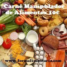 Curso Manipulador alimentos on line 10€  Te enviamos el certificado en PDF e impreso a tu domicilio.