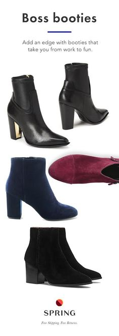 More Colors - More Fall / Winter Fashion Trends To Not Miss This Season. Bootie Boots, Shoe Boots, Ankle Boots, Red Booties, Look Fashion, Fashion Shoes, Womens Fashion, Fashion Trends, Cute Shoes