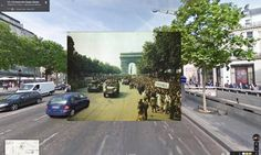 Pictures of World War II in Google Street View (image)