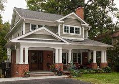 Ideas for exterior house siding options Paint Colors For Home, Exterior House Siding, Red Brick House Exterior, Brick Exterior House, Siding Options, Exterior Paint Colors For House, Brick Columns, Red Brick House