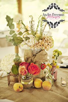 Would love this for centerpieces Outdoor Weddings, Country Weddings, Romantic Weddings, Unique Weddings, Engagement Decorations, Wedding Decorations, Decoration Party, Shabby Chic Decor, Rustic Decor