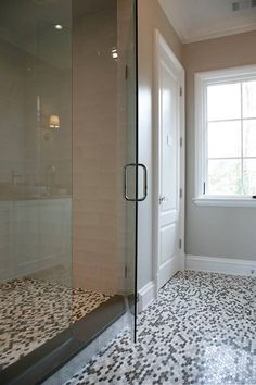 Cambria Sussex Shower Curb by Atlanta Kitchen | by CR Home Kitchen & Bath Design