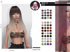 Monster Hair by LeahLillith at TSR • Sims 4 Updates