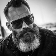 black and white beard