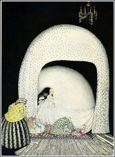 In Powder and Crinoline, 1912 by Кай Нильсен. Ар Нуво (Модерн). иллюстрация