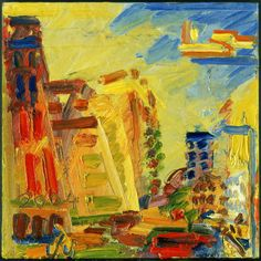 Mornington Crescent, Summer Morning II by Frank Auerbach